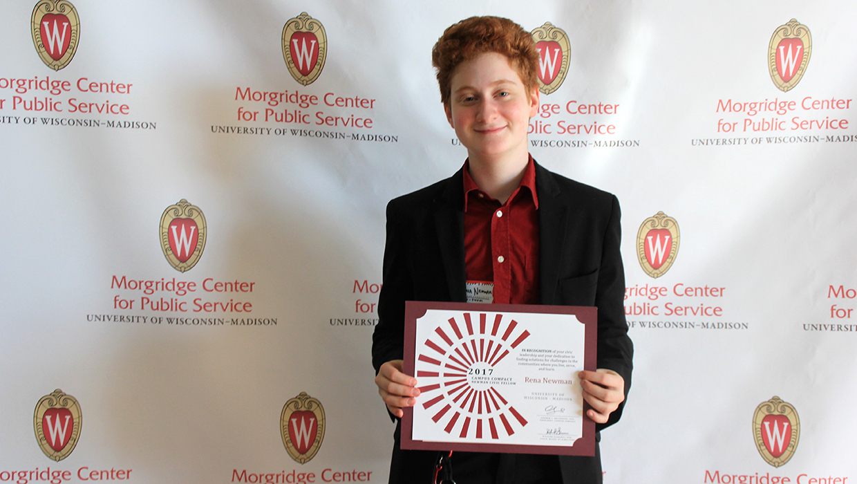 Newman Civic Fellows Award winner Rena Newman